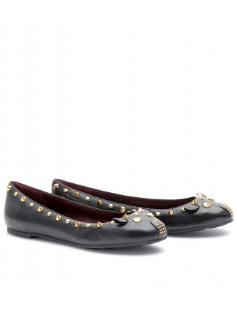 Marc by Marc Jacobs - LEATHER BALLERINAS WITH STUDS - mytheresa.com GmbH