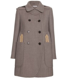 WOOL COAT WITH FAUX LEATHER HOOD