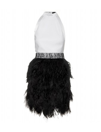 Givenchy Cocktail Dress With Ostrich Feather Skirt