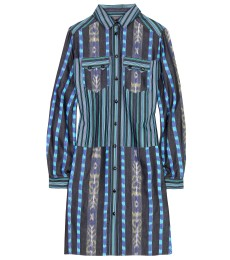 Hemdblusenkleid Mit Ikat-muster