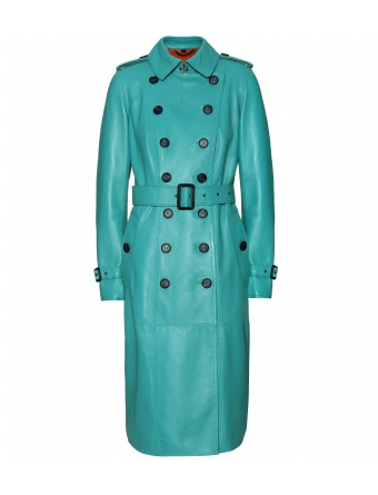 mytheresa.com -  Burberry Prorsum - LEATHER TRENCH COAT - Luxury Fashion for Women / Designer clothing, shoes, bags :  leather coat
