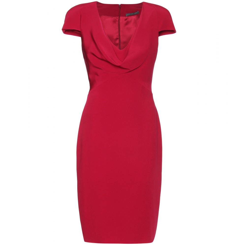 mytheresa.com -  Alexander McQueen  :  red shift dress sexy mini clothes