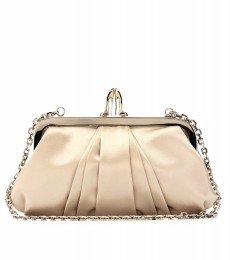 MINI LOUBI LULA SATIN CROISSANT CLUTCH