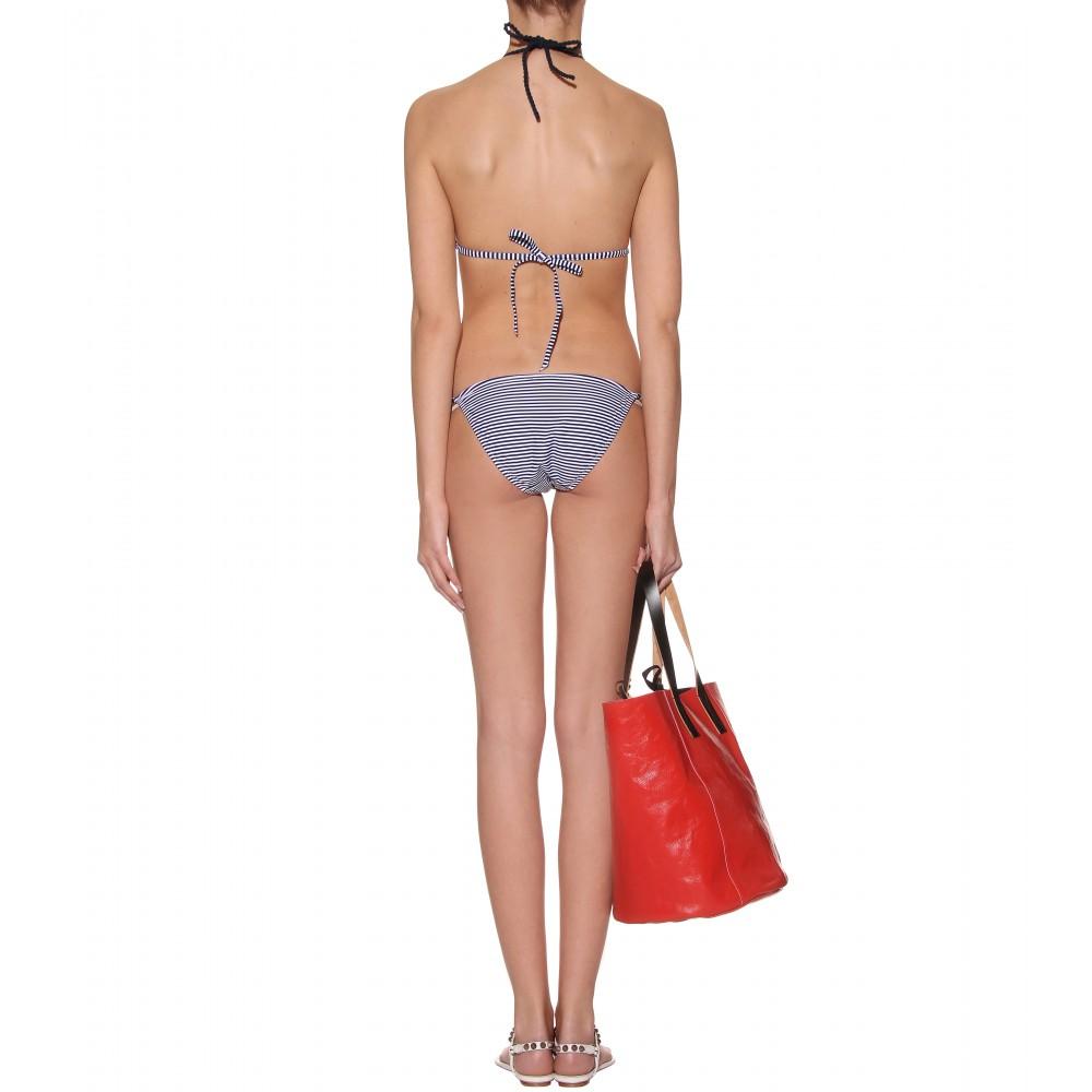 mytheresa.com - Heidi Klein - CATHERINE STRIPED STRING BIKINI - Luxury ...