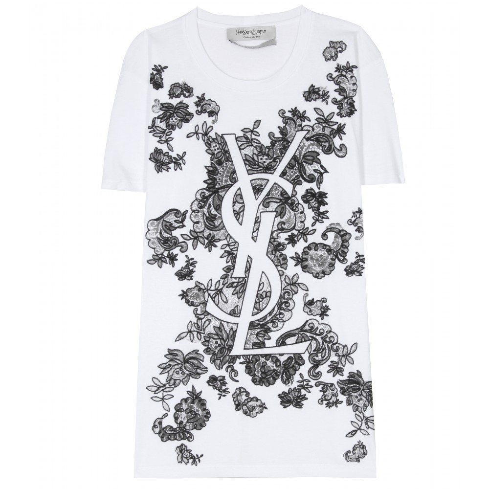 LACE APPLIQUÉ TEE - Luxury Fashion for Women
