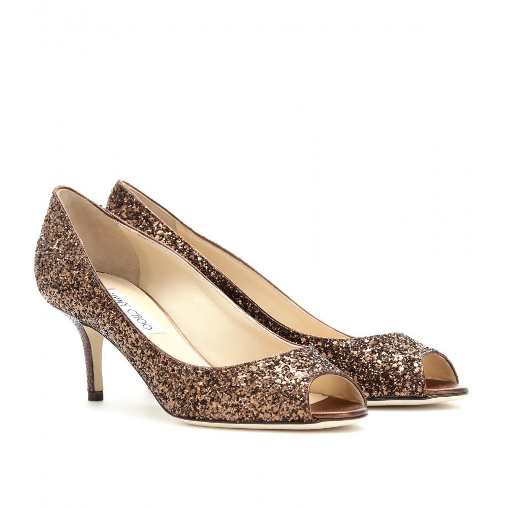 Kitten Heel Glitter Shoes