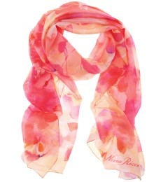 FLORAL PRINT SILK SCARF