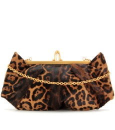 LOUBIS ANGEL PONYFELL-CLUTCH MIT ANIMALPRINT
