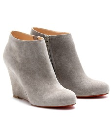 BELLE ZEPPA 85 WEDGES AUS VELOURSLEDER