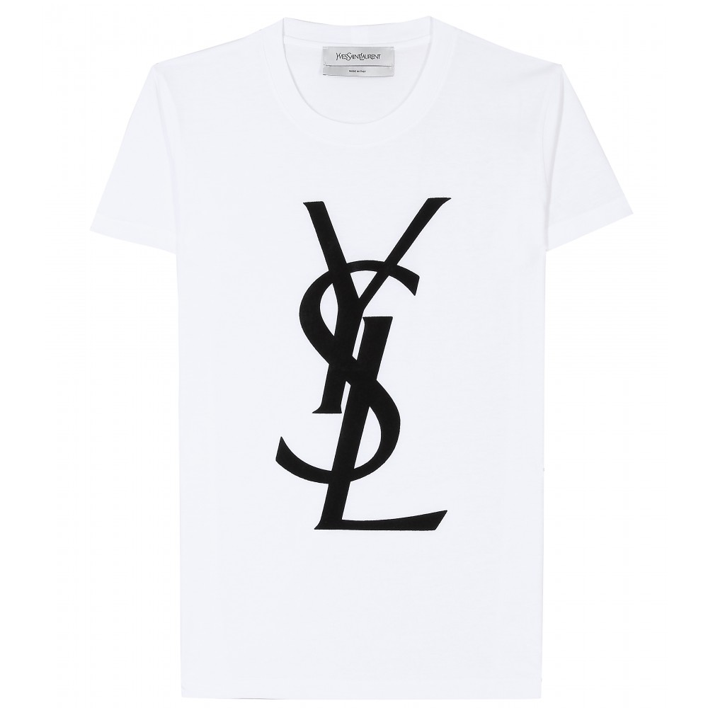 the ysl logo shirt the kaloka. Black Bedroom Furniture Sets. Home Design Ideas