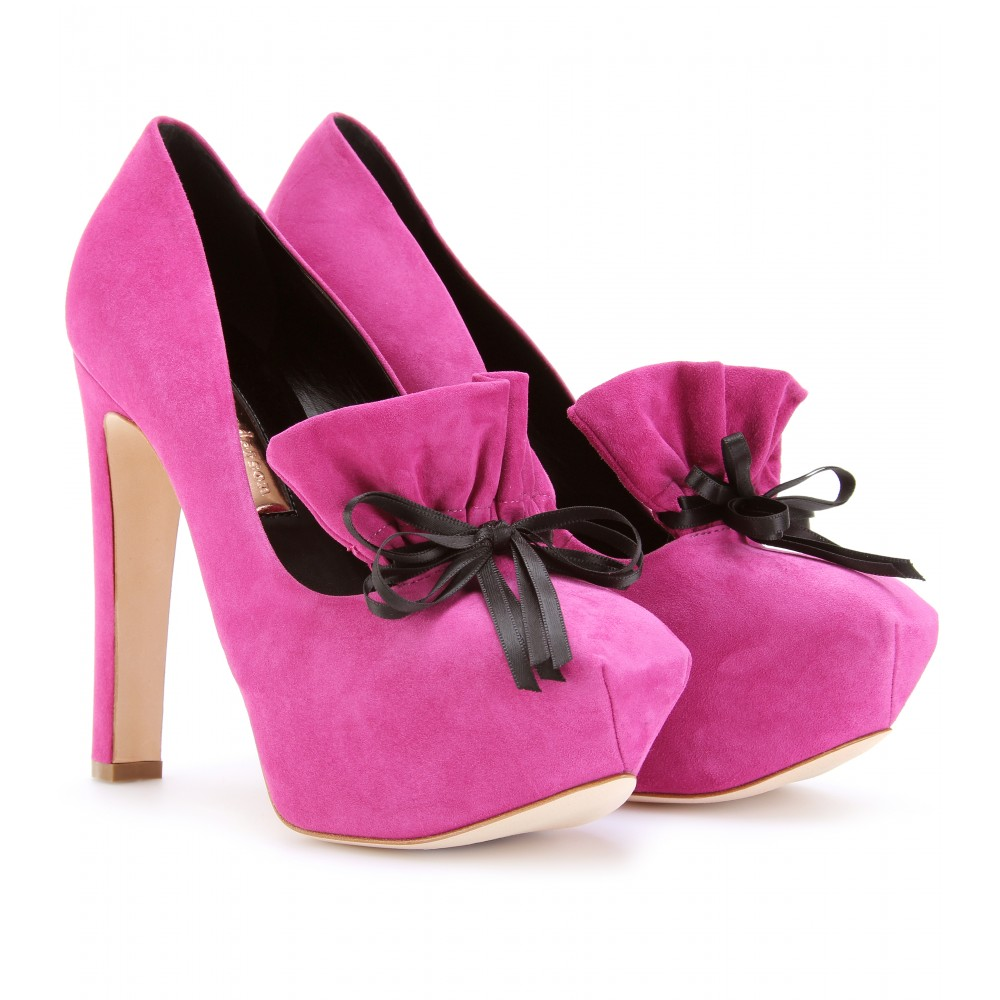 mytheresa.com -  Rupert Sanderson - FAVELL SUEDE PUMPS - Luxury Fashion for Women / Designer clothing, shoes, bags