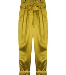 SHINY TROUSERS WITH SOFT PLEATS