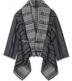 ZIG ZAG WRAP TWEED JACKET