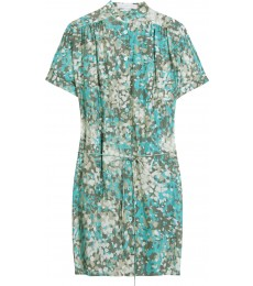 CAMOUFLAGE SILK DRESS