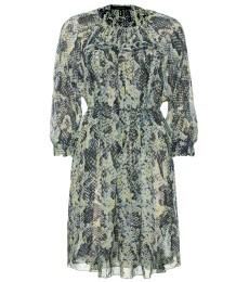 MARTINA SILK SNAKE-PRINT DRESS